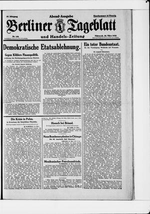 Berliner Tageblatt und Handels-Zeitung vom 28.03.1928