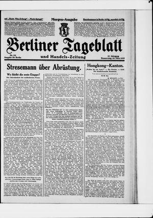 Berliner Tageblatt und Handels-Zeitung vom 29.03.1928