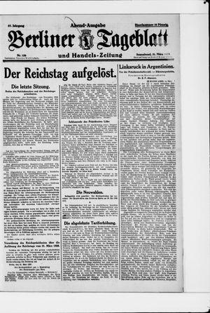Berliner Tageblatt und Handels-Zeitung vom 31.03.1928
