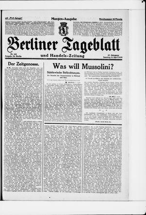Berliner Tageblatt und Handels-Zeitung on Apr 8, 1928