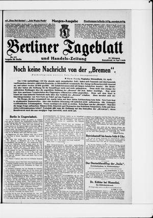 Berliner Tageblatt und Handels-Zeitung vom 14.04.1928