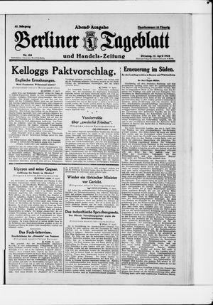 Berliner Tageblatt und Handels-Zeitung vom 17.04.1928