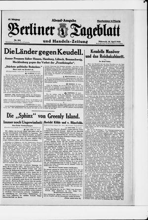 Berliner Tageblatt und Handels-Zeitung vom 18.04.1928