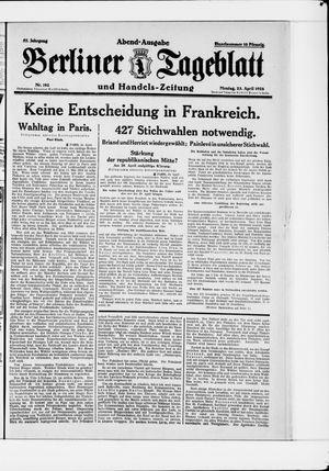 Berliner Tageblatt und Handels-Zeitung vom 23.04.1928