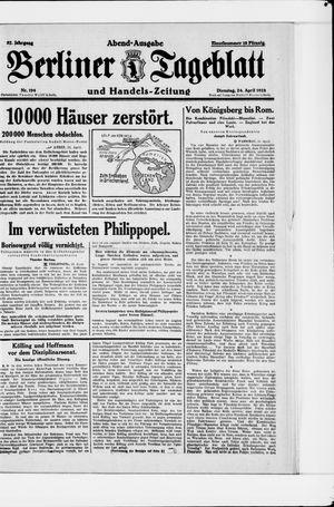 Berliner Tageblatt und Handels-Zeitung vom 24.04.1928