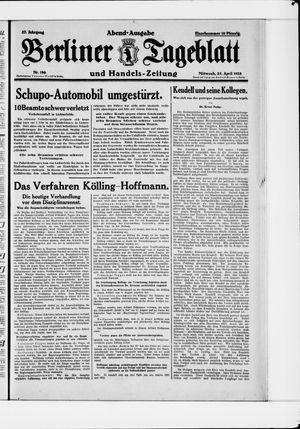 Berliner Tageblatt und Handels-Zeitung vom 25.04.1928