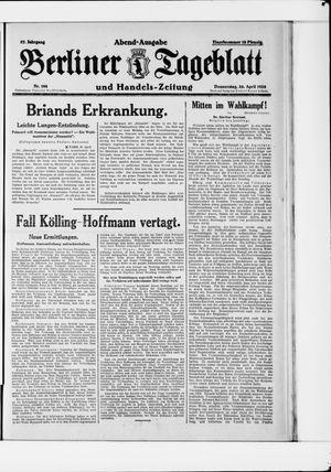 Berliner Tageblatt und Handels-Zeitung vom 26.04.1928