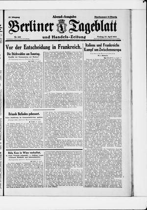 Berliner Tageblatt und Handels-Zeitung vom 27.04.1928