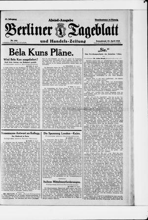 Berliner Tageblatt und Handels-Zeitung vom 28.04.1928