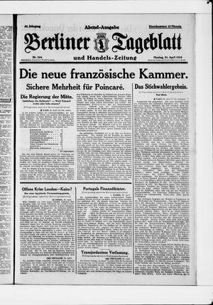 Berliner Tageblatt und Handels-Zeitung vom 30.04.1928