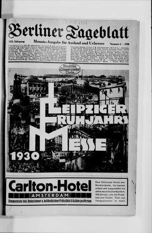 Berliner Tageblatt und Handels-Zeitung vom 06.01.1930