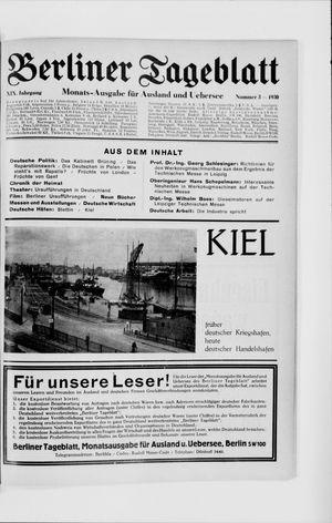 Berliner Tageblatt und Handels-Zeitung vom 03.03.1930