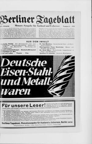 Berliner Tageblatt und Handels-Zeitung vom 07.04.1930