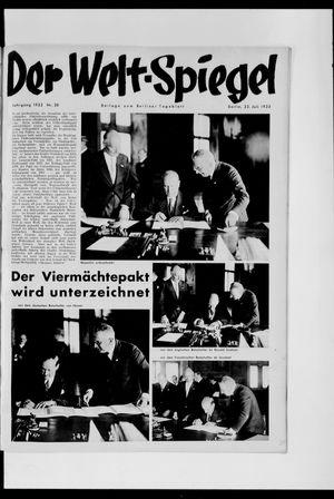 Berliner Tageblatt und Handels-Zeitung vom 23.07.1933