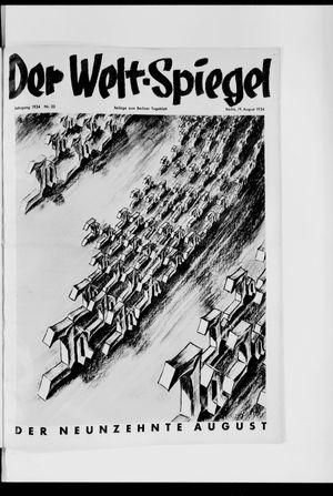 Berliner Tageblatt und Handels-Zeitung vom 19.08.1934