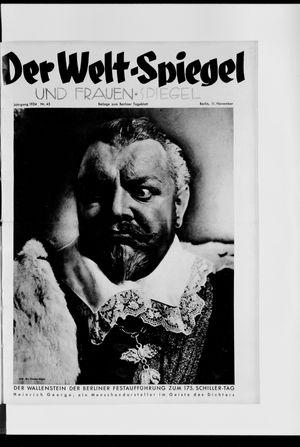 Berliner Tageblatt und Handels-Zeitung vom 11.11.1934