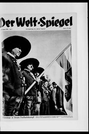 Berliner Tageblatt und Handels-Zeitung vom 27.03.1938