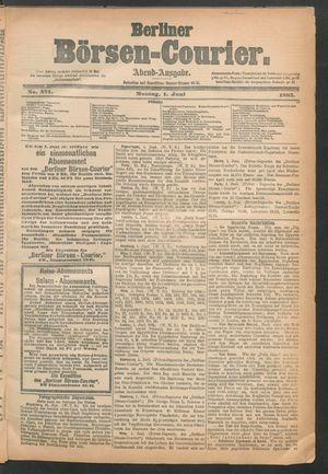 Berliner Börsen-Courier vom 01.06.1885