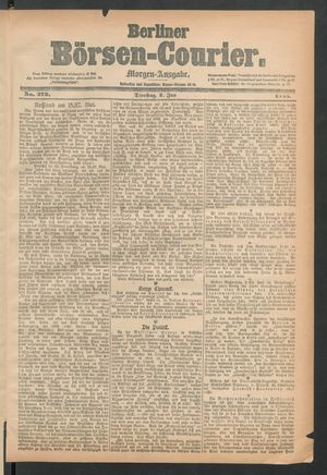 Berliner Börsen-Courier vom 02.06.1885