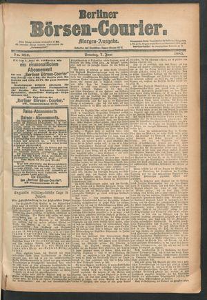 Berliner Börsen-Courier vom 07.06.1885