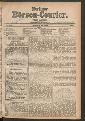 Berliner Börsen-Courier vom 10.06.1885