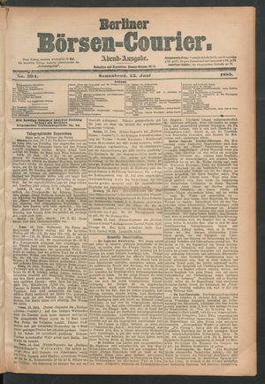 Berliner Börsen-Courier vom 13.06.1885