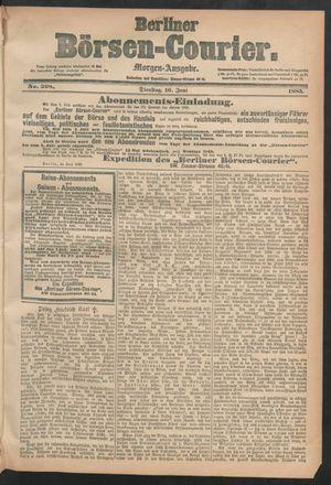 Berliner Börsen-Courier vom 16.06.1885