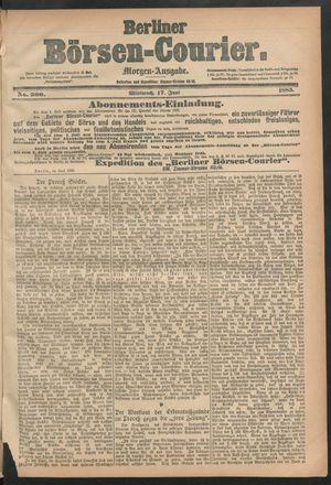 Berliner Börsen-Courier vom 17.06.1885