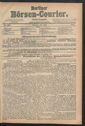 Berliner Börsen-Courier vom 19.06.1885