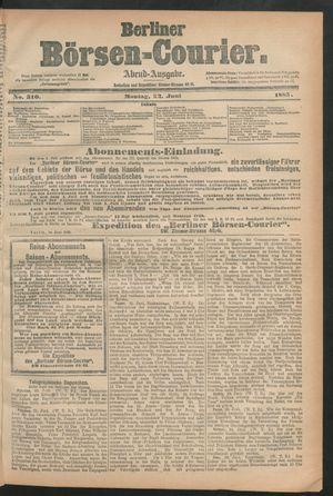 Berliner Börsen-Courier vom 22.06.1885