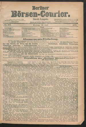 Berliner Börsen-Courier vom 26.06.1885