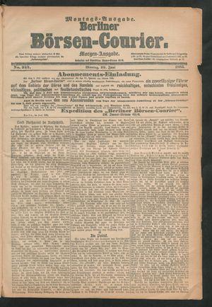Berliner Börsen-Courier vom 29.06.1885