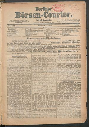 Berliner Börsen-Courier vom 01.07.1885