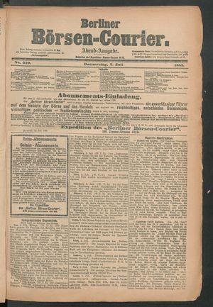 Berliner Börsen-Courier vom 02.07.1885