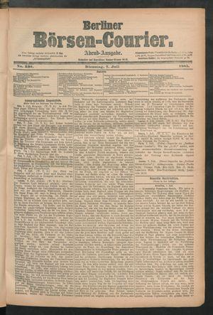 Berliner Börsen-Courier vom 07.07.1885