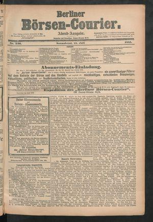 Berliner Börsen-Courier vom 11.07.1885