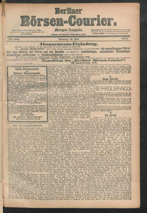 Berliner Börsen-Courier vom 12.07.1885