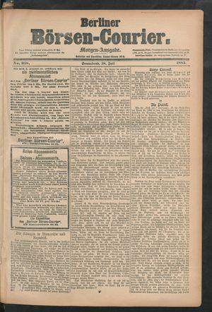 Berliner Börsen-Courier vom 18.07.1885