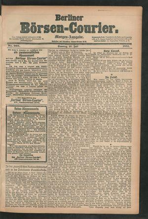 Berliner Börsen-Courier vom 19.07.1885