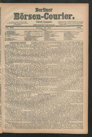 Berliner Börsen-Courier vom 20.07.1885