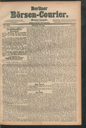 Berliner Börsen-Courier vom 22.07.1885