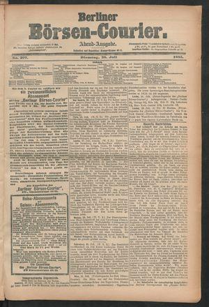 Berliner Börsen-Courier vom 28.07.1885