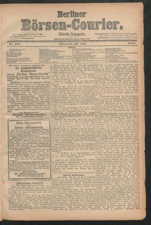 Berliner Börsen-Courier vom 29.07.1885