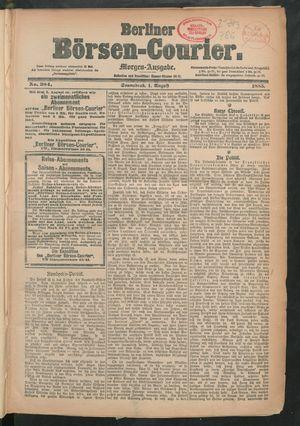 Berliner Börsen-Courier vom 01.08.1885