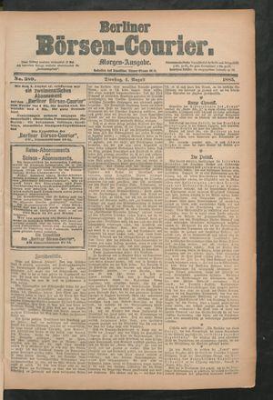 Berliner Börsen-Courier vom 04.08.1885