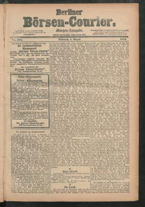 Berliner Börsen-Courier vom 05.08.1885