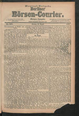 Berliner Börsen-Courier vom 10.08.1885