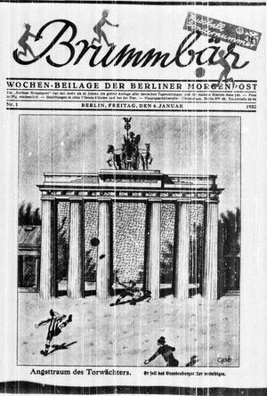 ˜Derœ Brummbär vom 06.01.1933