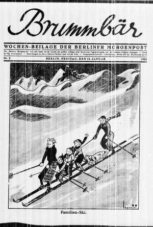 ˜Derœ Brummbär vom 13.01.1933