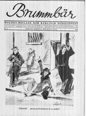 ˜Derœ Brummbär vom 20.01.1933